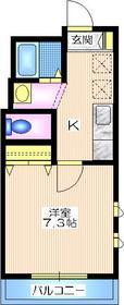 エーデルハイム2階Fの間取り画像
