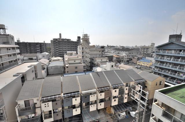 アパートメント生野Ⅲ この見晴らしが日当たりのイイお部屋を作ってます。