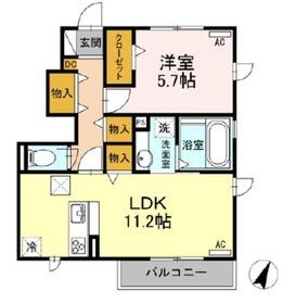 メゾン楓Ⅲ1階Fの間取り画像
