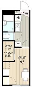 レオパレスツバキハウス2階Fの間取り画像