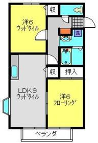 エルレーブA棟2階Fの間取り画像