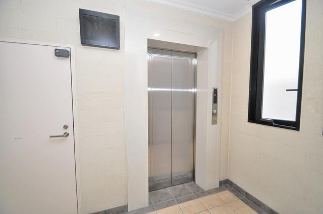 トリニティ東野 エレベーター付き。これで重たい荷物があっても安心ですね。