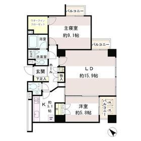 小石川パークタワー3階Fの間取り画像