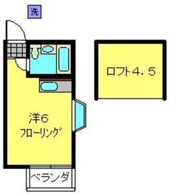 三ツ沢ホームズ2階Fの間取り画像