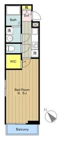 (仮称)矢野口アパート3階Fの間取り画像