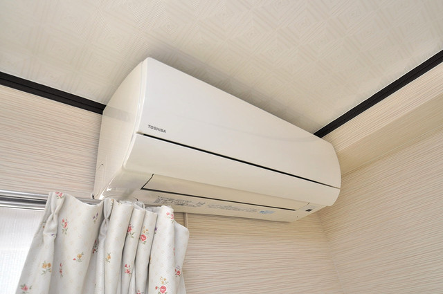 大同マンション エアコンが最初からついているなんて、本当に助かりますね。