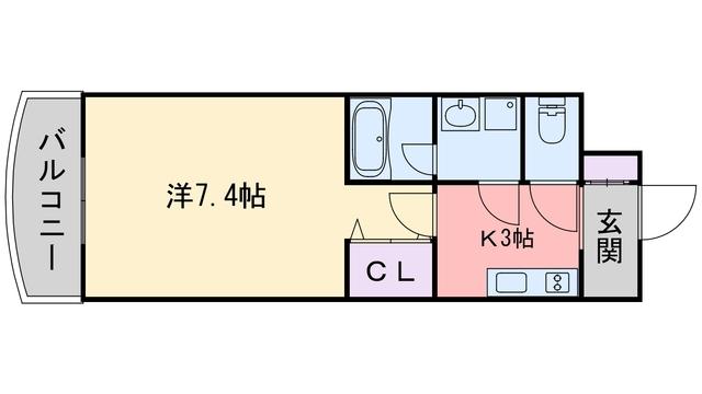 ローズモント・フレア別府駅前間取図