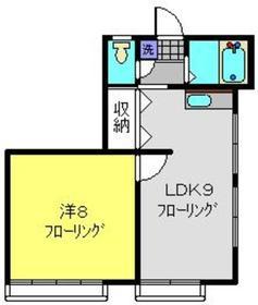 宮坂ハイツⅢ1階Fの間取り画像