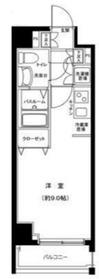 グランフォース横浜関内10階Fの間取り画像