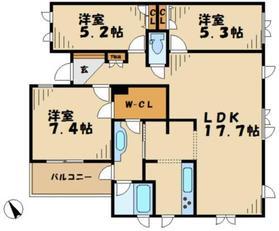 栗平駅 徒歩21分2階Fの間取り画像