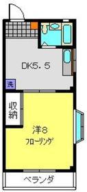 ロイヤルTAKEコーポ2階Fの間取り画像