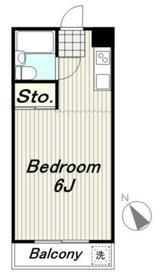 サードフロンティア2階Fの間取り画像