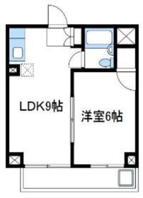 野村マンション4階Fの間取り画像