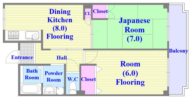 トリニティ加美東 和室のあるゆったりした間取です。一度ご覧ください。