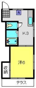 福田アパート1階Fの間取り画像