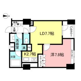 Feel A 渋谷11階Fの間取り画像