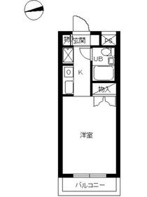 スカイコート蒲田42階Fの間取り画像