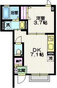 (仮称)西荻窪新築1階Fの間取り画像