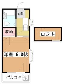 シオンハイム2階Fの間取り画像