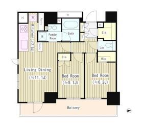 ザ・パークハウス小石川後楽園3階Fの間取り画像
