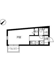 スカイコート西新宿第21階Fの間取り画像