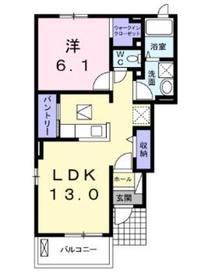 ハレクラニ1階Fの間取り画像