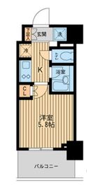 レジディア川崎5階Fの間取り画像
