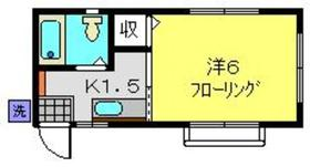 東神奈川駅 徒歩15分2階Fの間取り画像