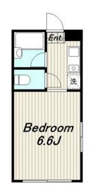 メゾンホワイトローズ2階Fの間取り画像