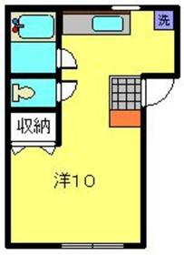 プラザ滝頭Ⅱ2階Fの間取り画像
