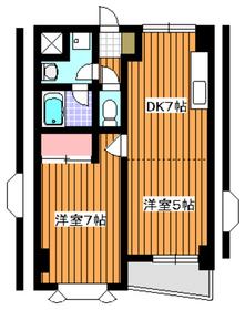 成増駅 徒歩5分3階Fの間取り画像