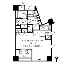 パークアクシス麻布仙台坂5階Fの間取り画像