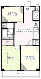 第2ドウエル3階Fの間取り画像