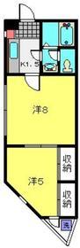 プルミエール4階Fの間取り画像
