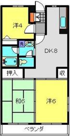 新川崎駅 徒歩23分1階Fの間取り画像