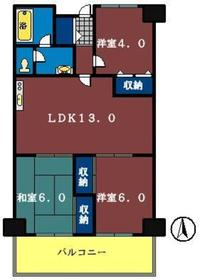 ヴォ—ヌング習志野台5階Fの間取り画像