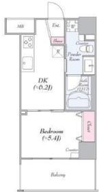 ライフレビュー横濱関内パークフロント8階Fの間取り画像