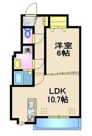 中目黒駅 徒歩18分2階Fの間取り画像