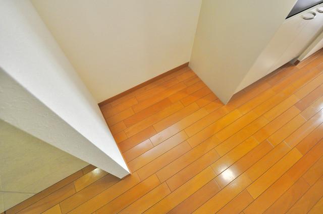 シャトー雅 冷蔵庫置き場も確保。キッチンのすぐ横だから使いやすい。
