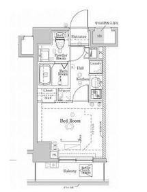 ラフィスタ川崎Ⅴ8階Fの間取り画像