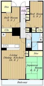 エクレール211階Fの間取り画像