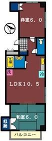 コゼットマンション2階Fの間取り画像