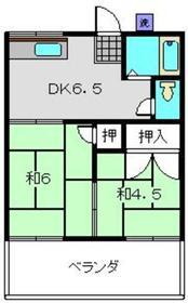 上永谷コーポ2階Fの間取り画像