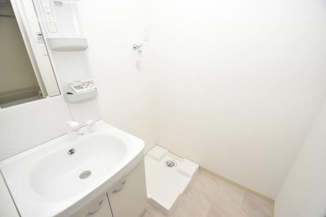 DOAHN長瀬 嬉しい室内洗濯機置場。これで洗濯機も長持ちしますね。