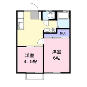 鶴瀬グリーンハイツB2階Fの間取り画像