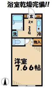 ハイムコーヤ22階Fの間取り画像