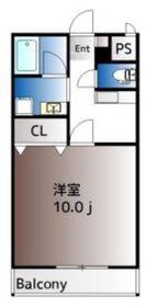 カーサK.1533階Fの間取り画像
