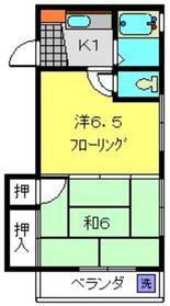 クレ第3ビル4階Fの間取り画像
