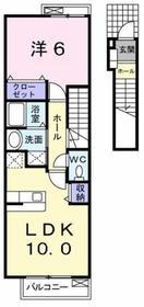 昭島駅 徒歩16分2階Fの間取り画像