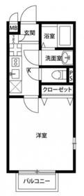 妙蓮寺駅 徒歩4分2階Fの間取り画像